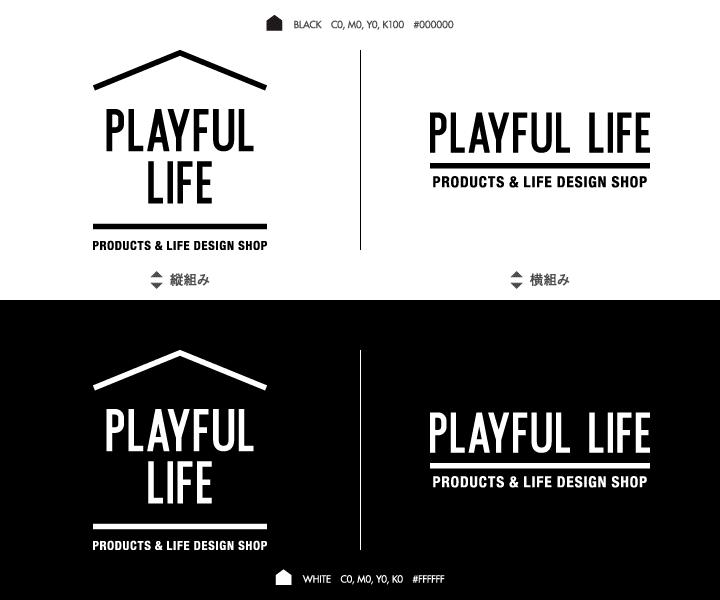 PLAYFUL LIFE(プレイフルライフ)ロゴマークバリエーション画像